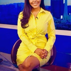 Fashion Nova Yellow Shirt Dress